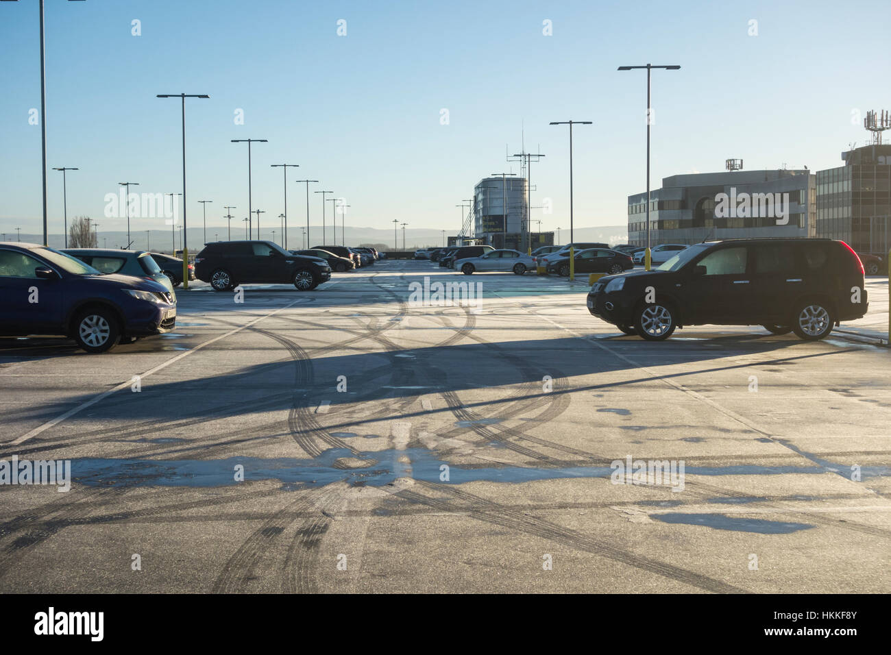 Terminal 1 manchester airport stock photos terminal 1 manchester manchester airport terminal 1 multi storey car park on a frosty morning uk stock m4hsunfo