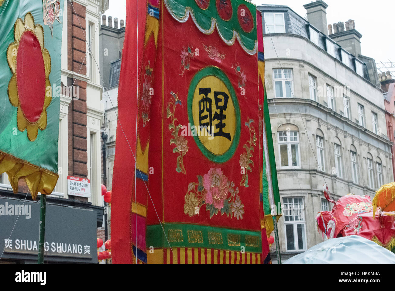 london 29th decorations in china town for the chinese new year celebration london 2017