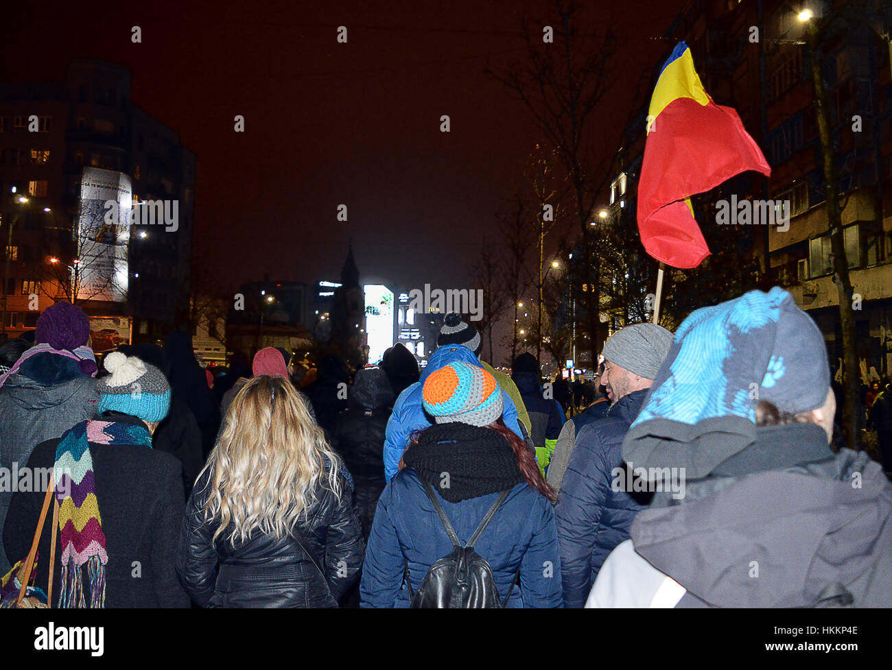 Bucharest, Romania. 29th Jan, 2017. More than 50,000 people took to the streets of Bucharest to protest against - Stock Image