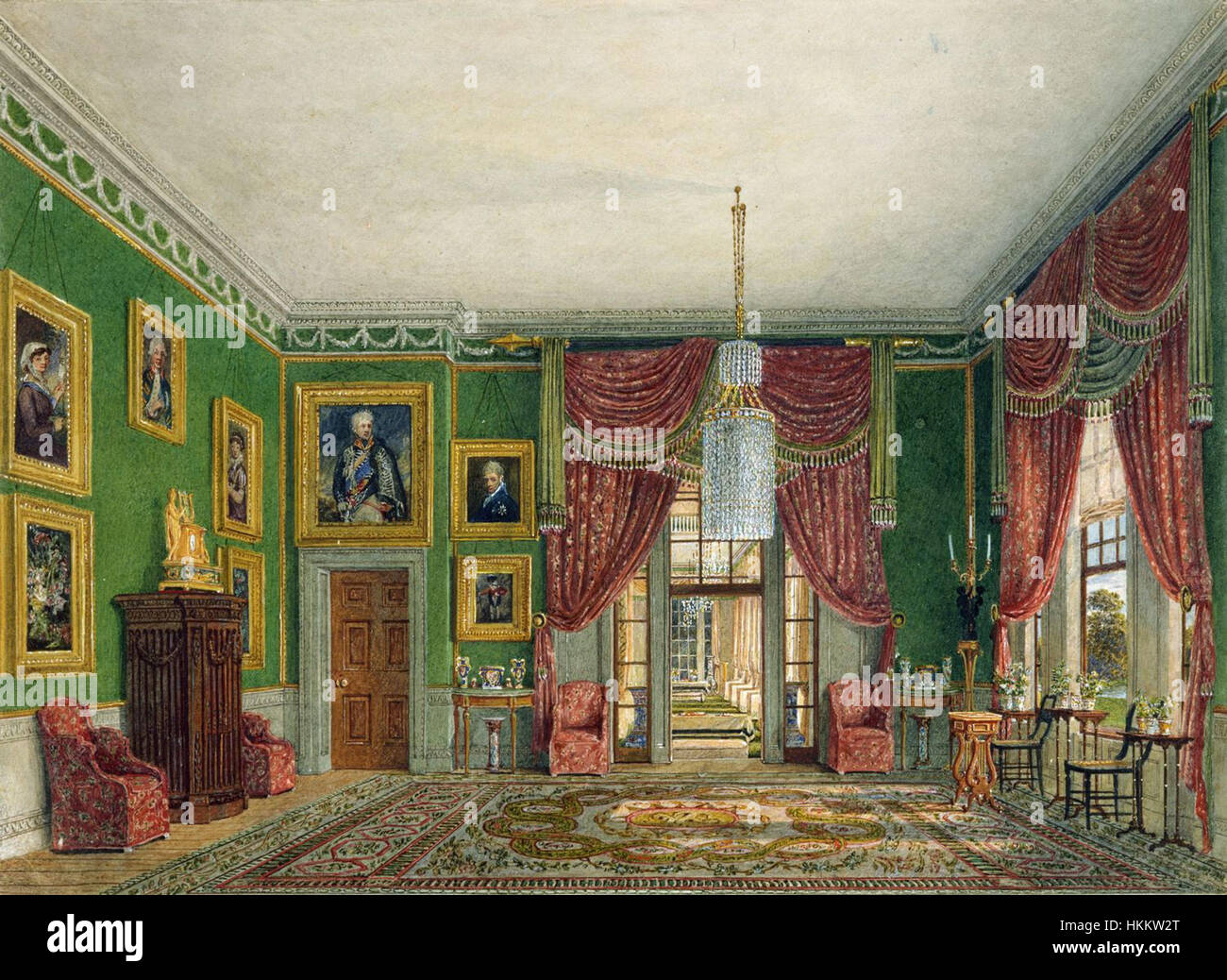 Frogmore House, Green Pavilion, by Charles Wild, 1817 - royal coll 922121 257043 ORI 0 0 Stock Photo
