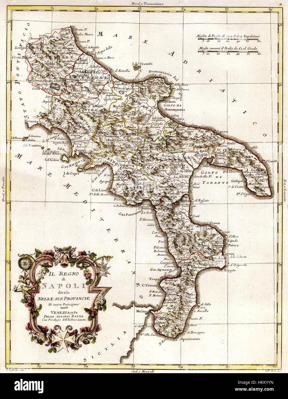 Cartina 1400.A Zatta Il Regno Di Napoli Diviso Nelle Sue Provincie 1782 Stock Photo Alamy