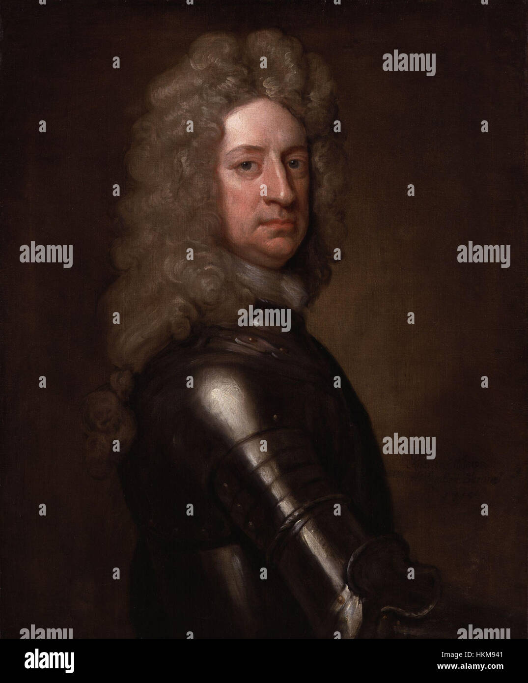 Charles Mordaunt, 3rd Earl of Peterborough by Sir Godfrey Kneller, Bt Stock Photo