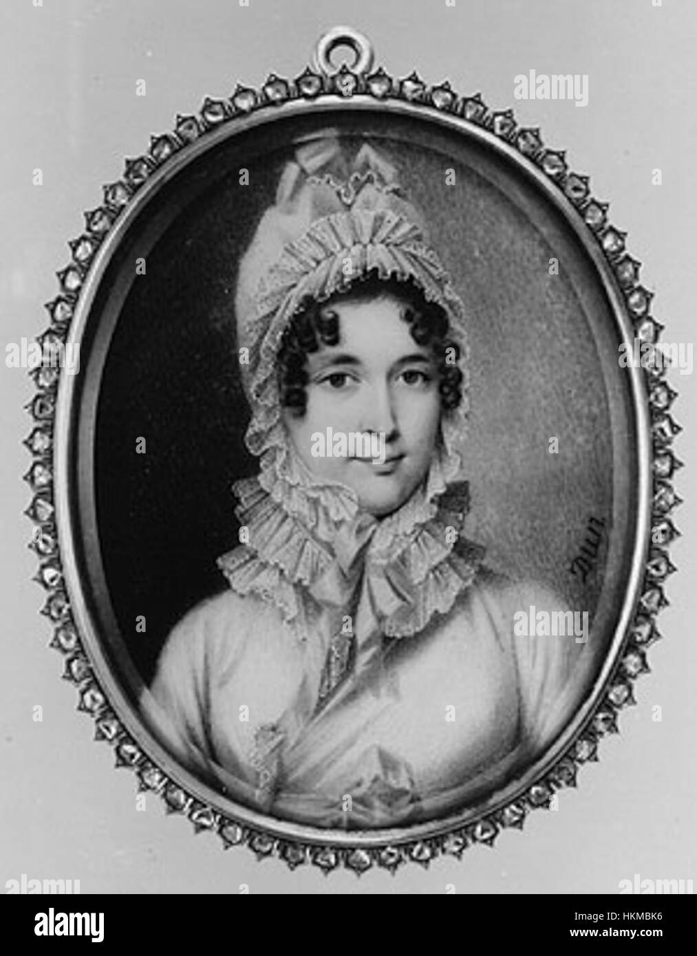 Miniature Mme Recamier 1810s - Stock Image