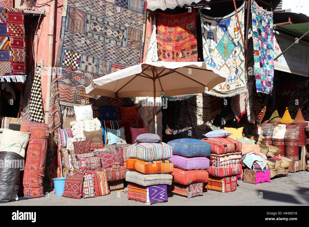 In The Bazaar Markets Of Marrakech Vintage Rugs And