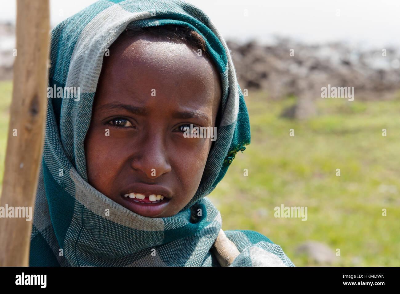 A young farmer, Bahir Dar, Ethiopia - Stock Image
