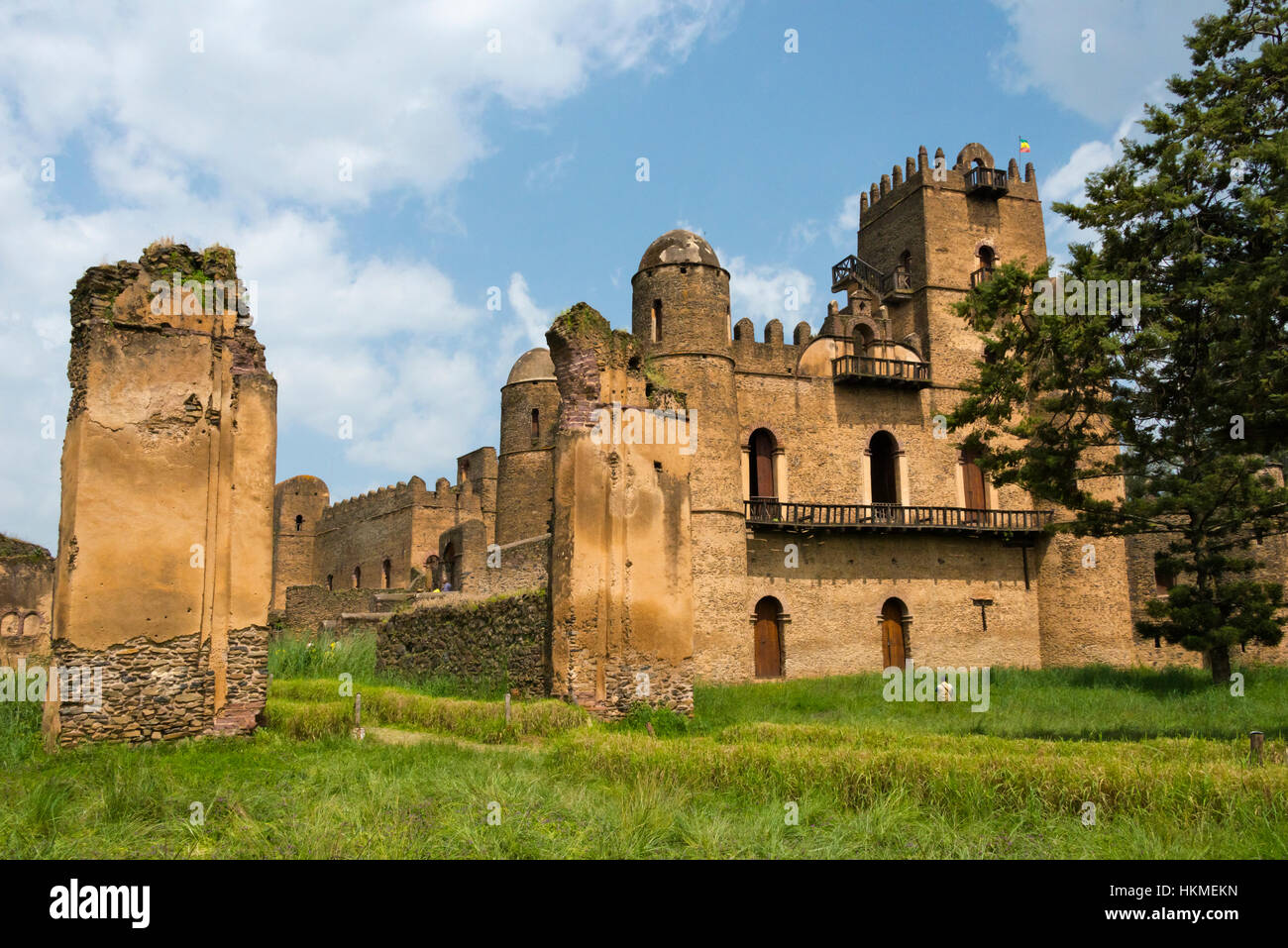 Fasilides' Castle in fortress-city of Fasil Ghebbi founded by