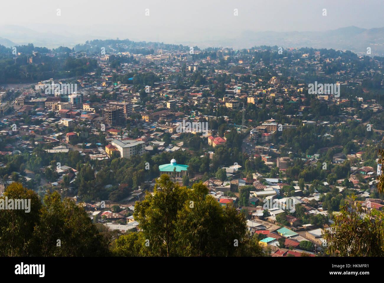 Cityscape of Gondar, Ethiopia - Stock Image
