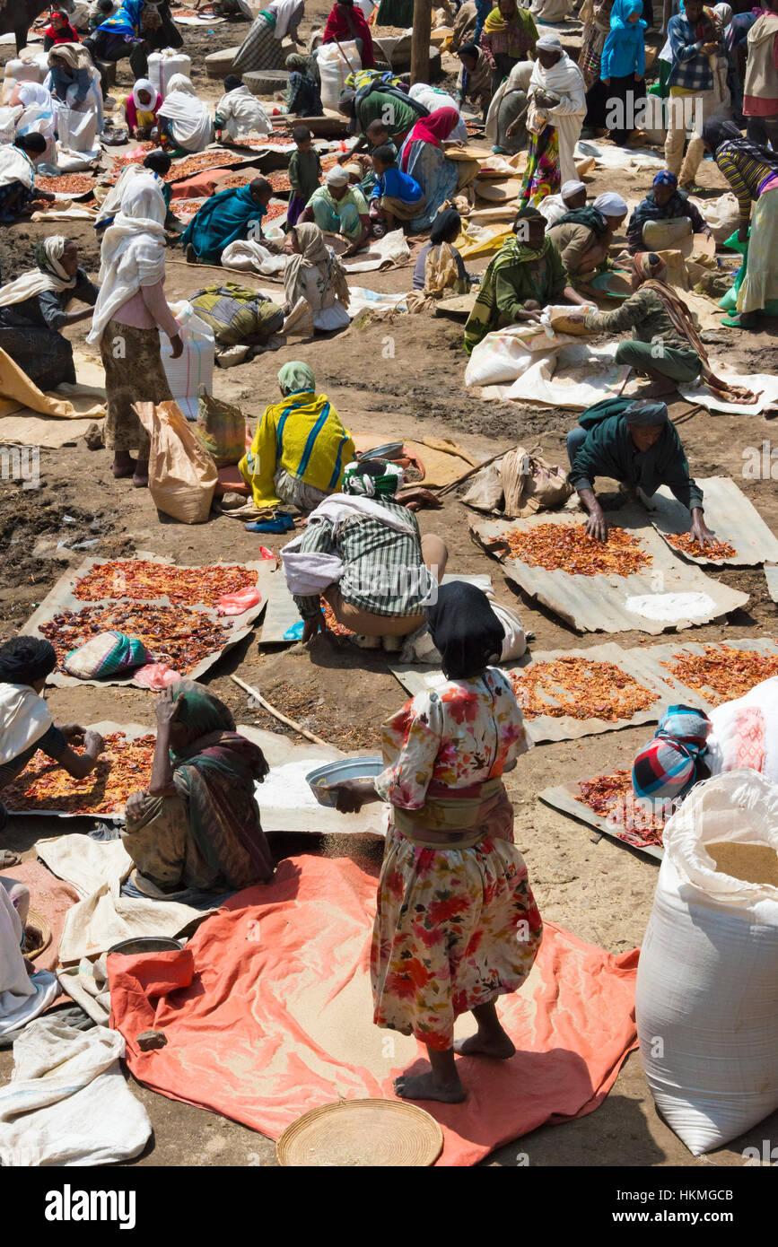 Market, Debark, Ethiopia - Stock Image