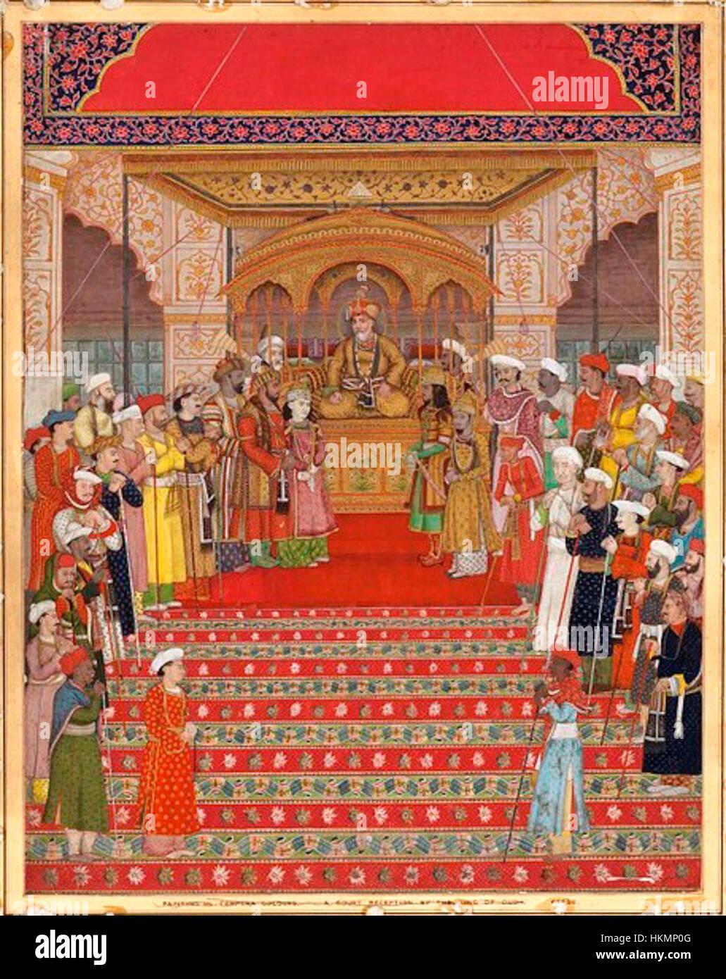 Akbar II in durbar - Stock Image