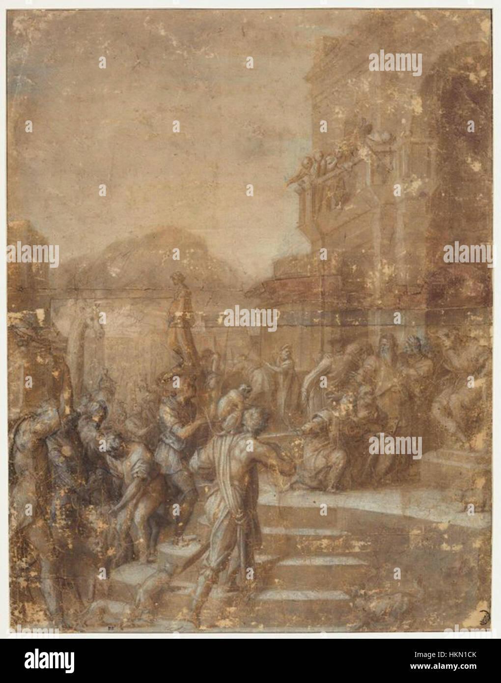 Andrea del sarto, disegno per il tributo a cesare, louvre - Stock Image