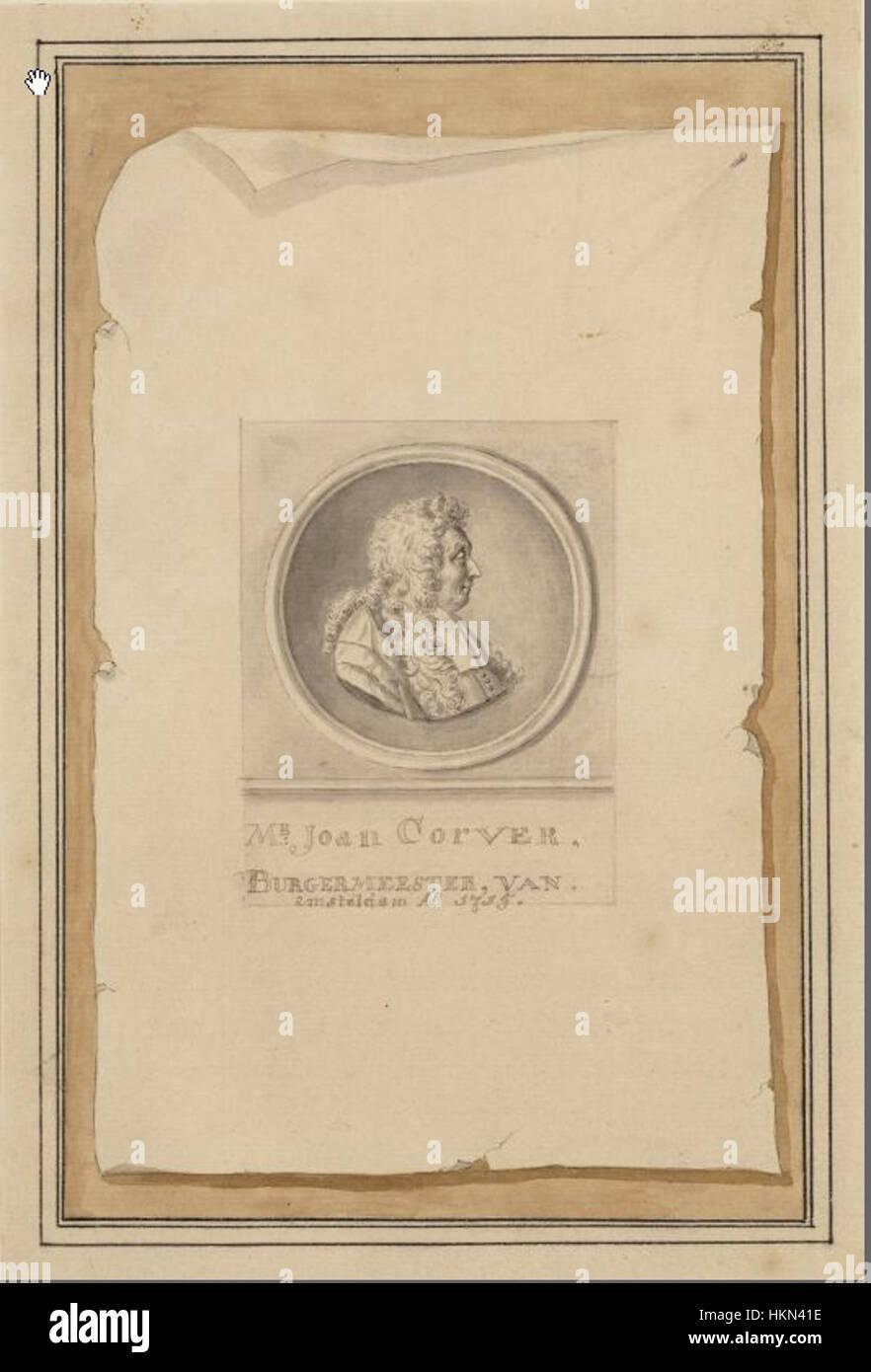 Antonina Houbraken - Portrait of Mr. Joan Corver (1628-1716), Alderman and  Mayor of Amsterdam