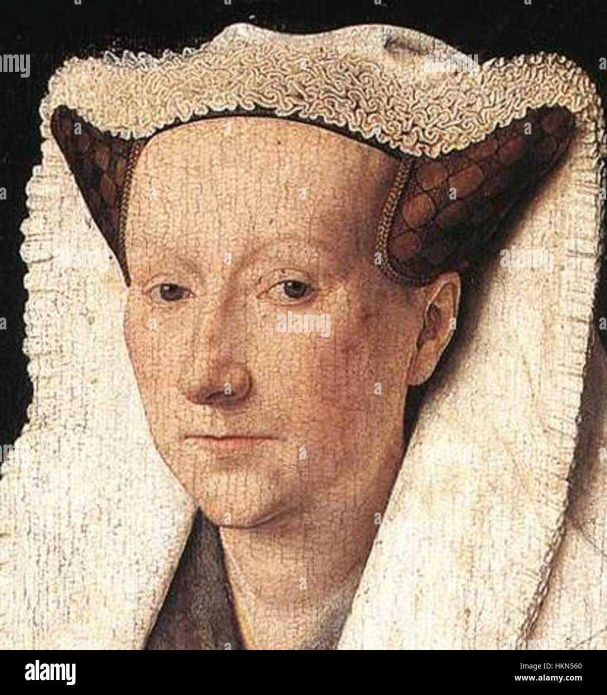 Jan van Eyck - Portrait of Margareta van Eyck - WGA7618 (cropped) Stock Photo