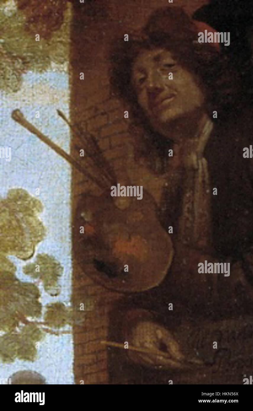 Jan van Kessel the Younger - Self-Portrait - Stock Image