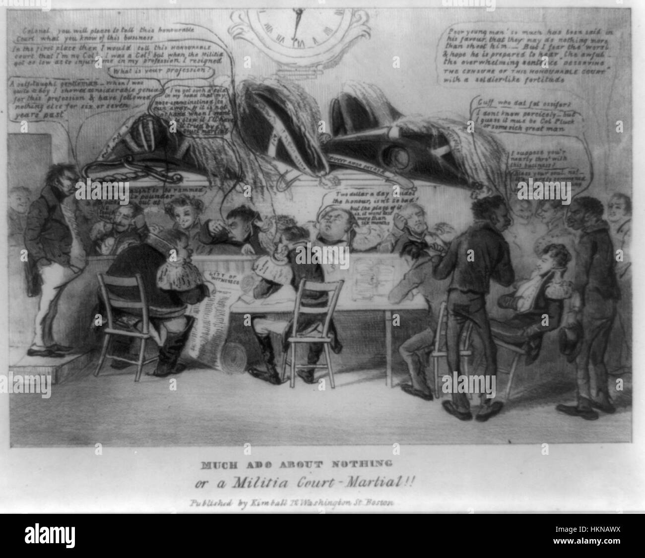 1832 MuchAdo byDClaypooleJohnston LibraryOfCongress - Stock Image