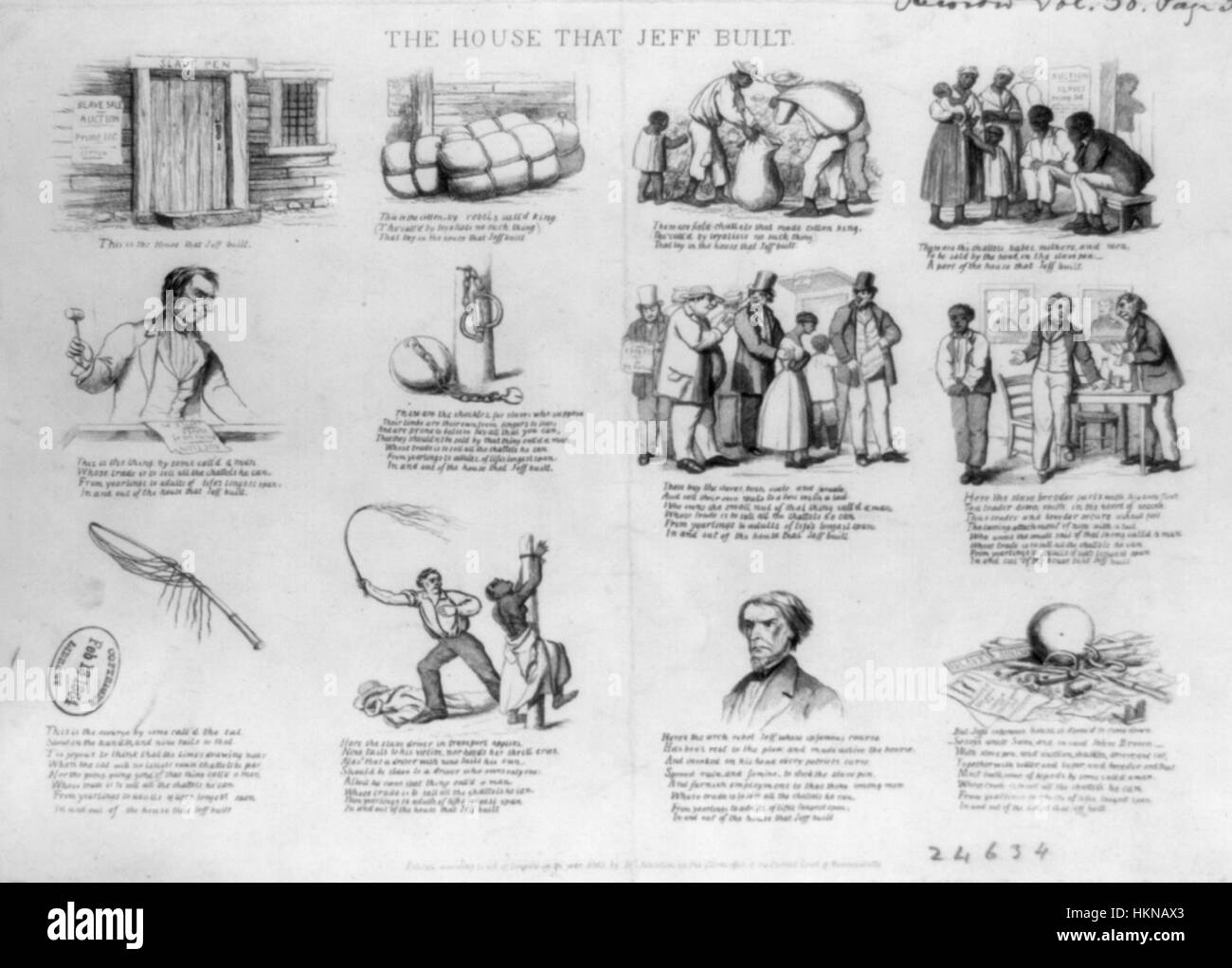 1863 HouseThatJeffBuilt byDClaypooleJohnston LibraryOfCongress - Stock Image