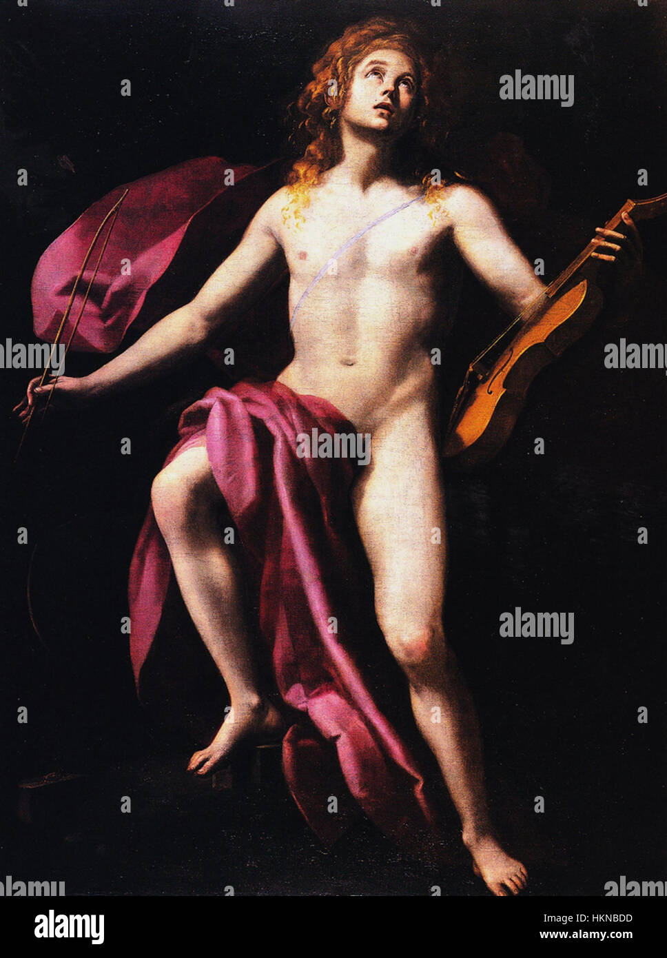 Apollon by Giovanni Baglione (1620) - Stock Image
