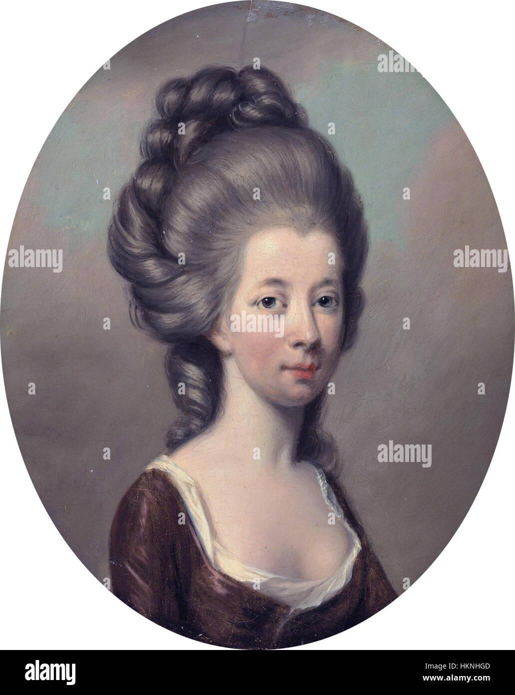 Emilia Olivia St George, the Duchess of Leinster by Hugh Douglas Hamilton (circa 1740-1808) - Stock Image