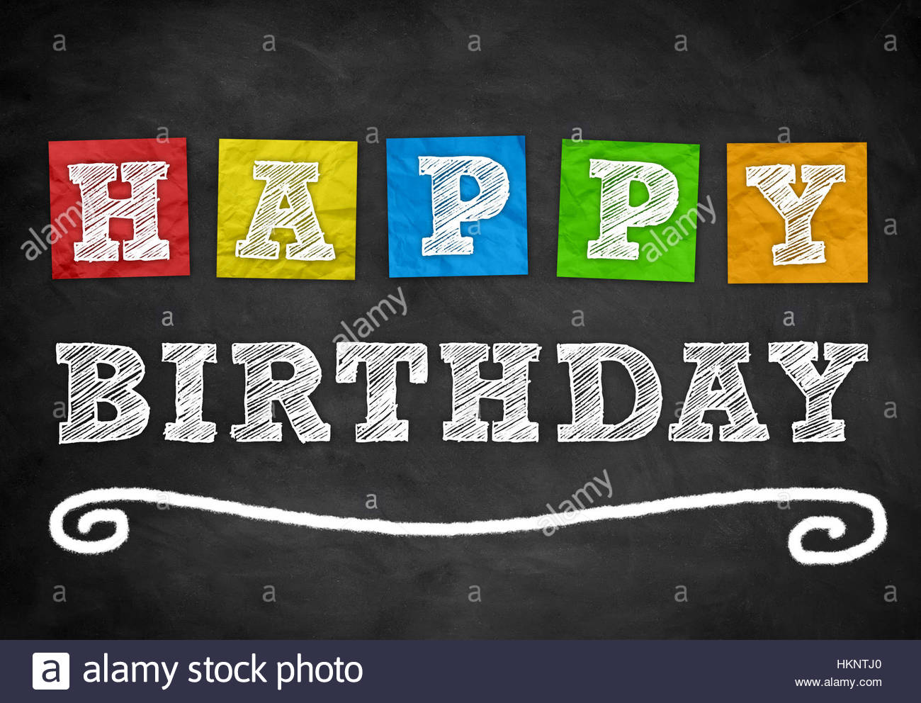 Happy Birthday - Stock Image