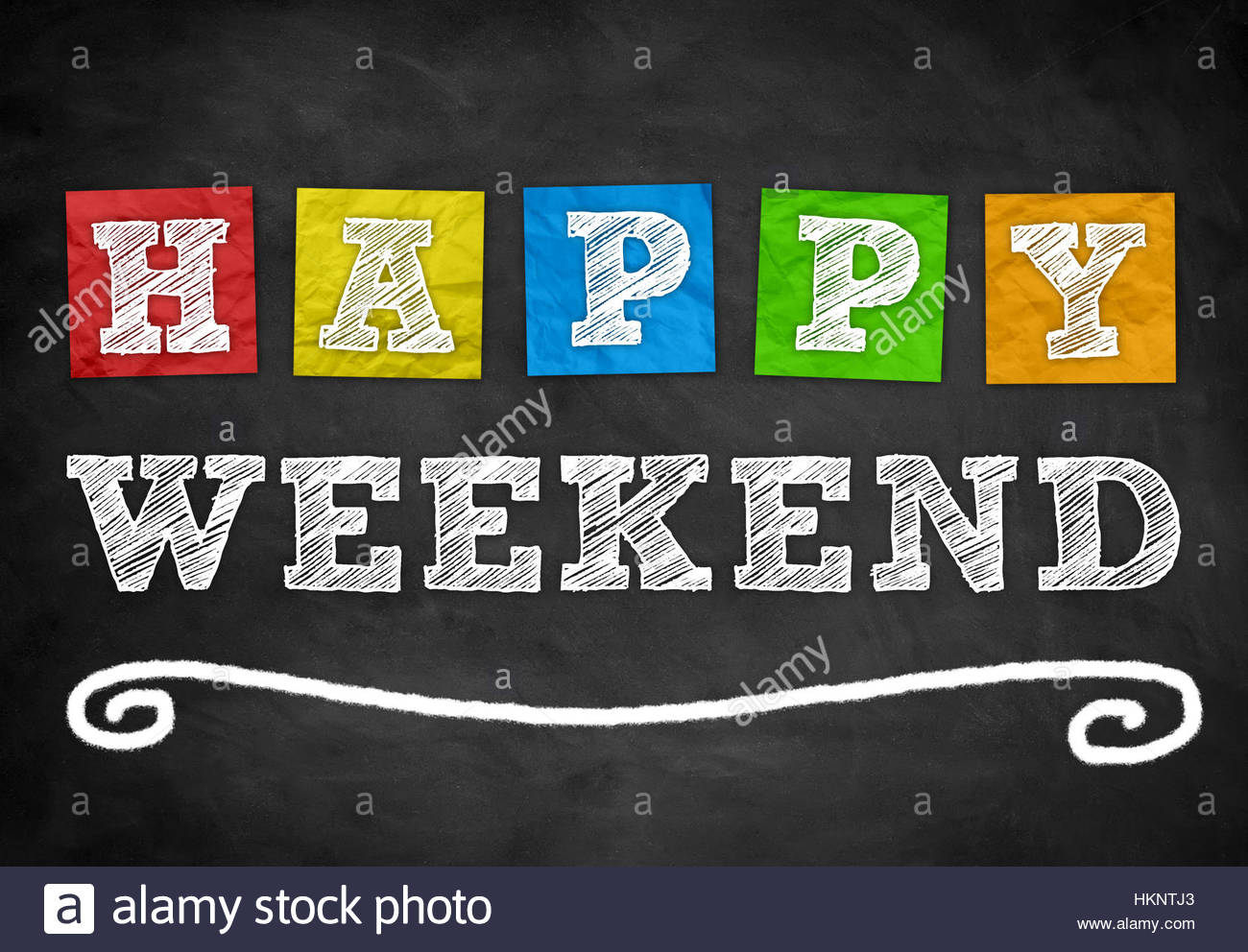 Happy Weekend - background concept - Stock Image