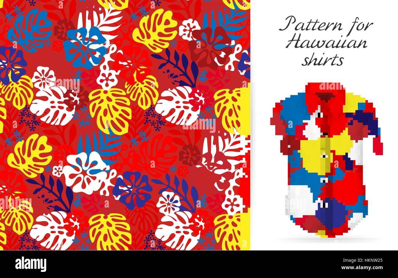 Hawaiian Aloha Shirt An Icon In A Flat Style Isolated On White Background