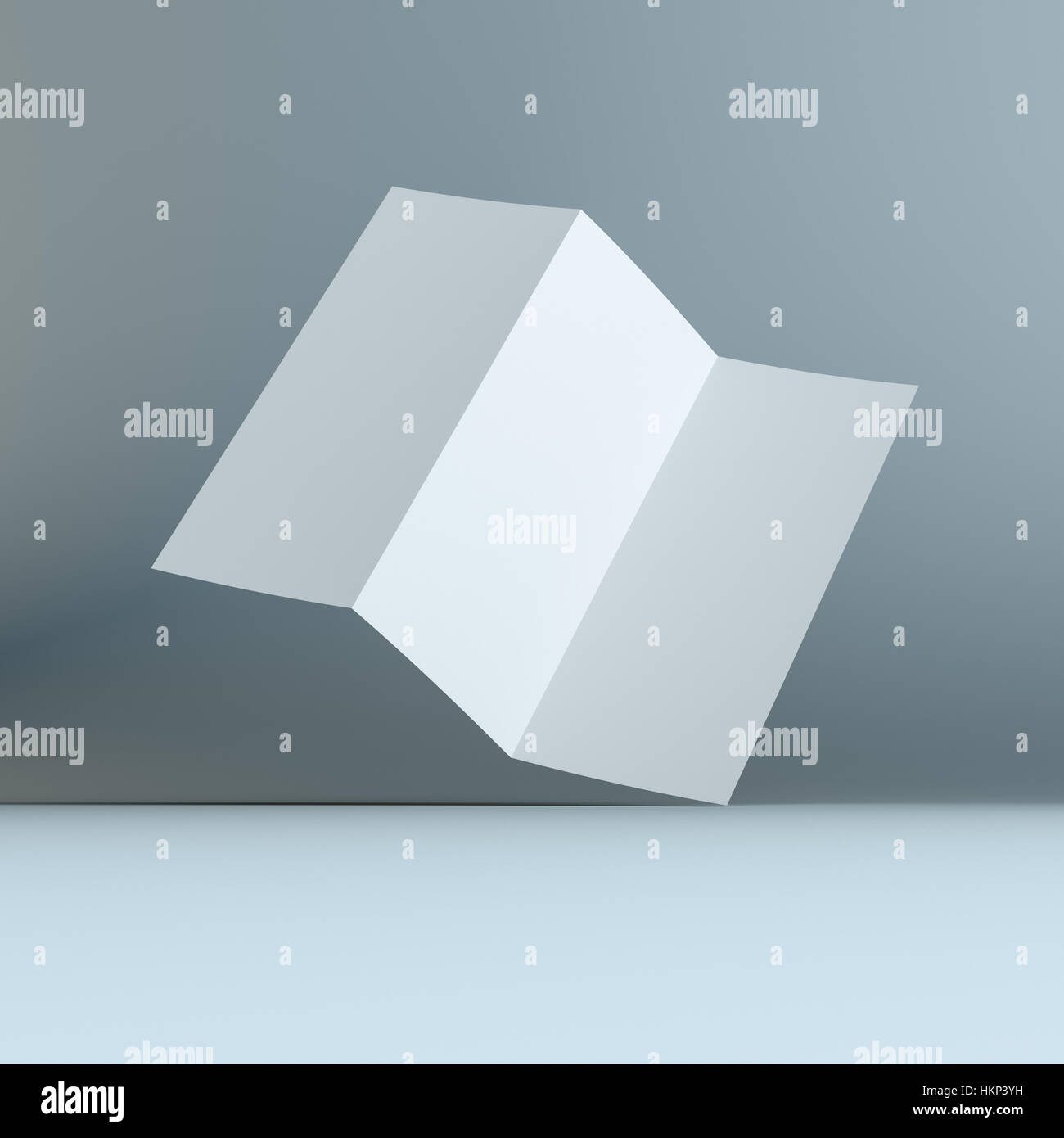 simple blank tri fold brochure corporate identity stock photo