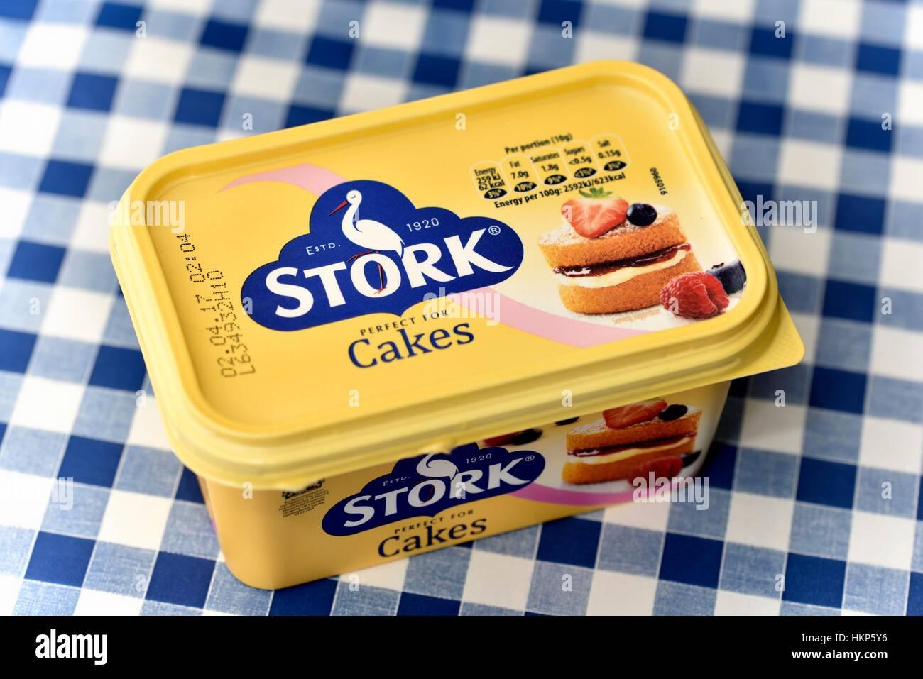 Stork margarine perfect for cakes. - Stock Image
