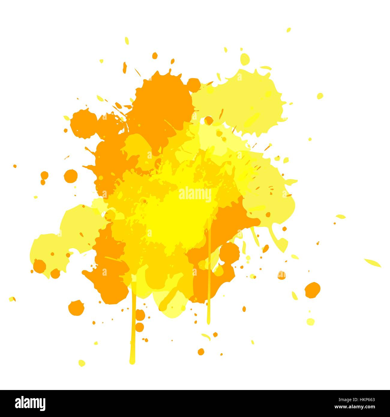 Yellow Tone Water Color Design For Brush Element Background With Stock Vector Image Art Alamy