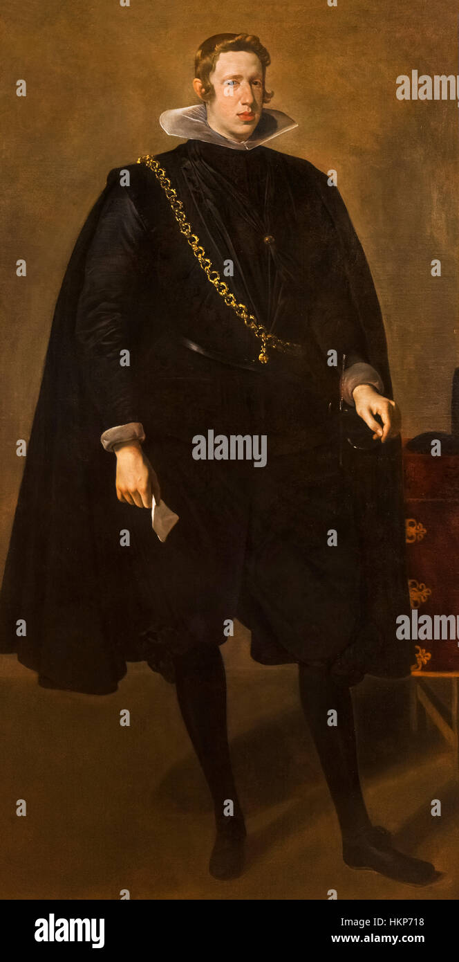 Philip IV of Spain. Portrait of King Philip IV by Velazquez, oil on canvas, c.1624 - Stock Image