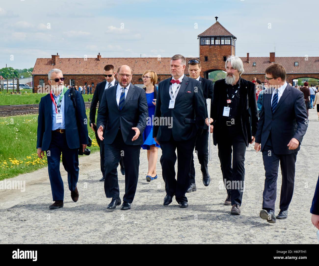 Martin Schulz in Auschwitz-Birkenau als MdEP 2015 - Stock Image