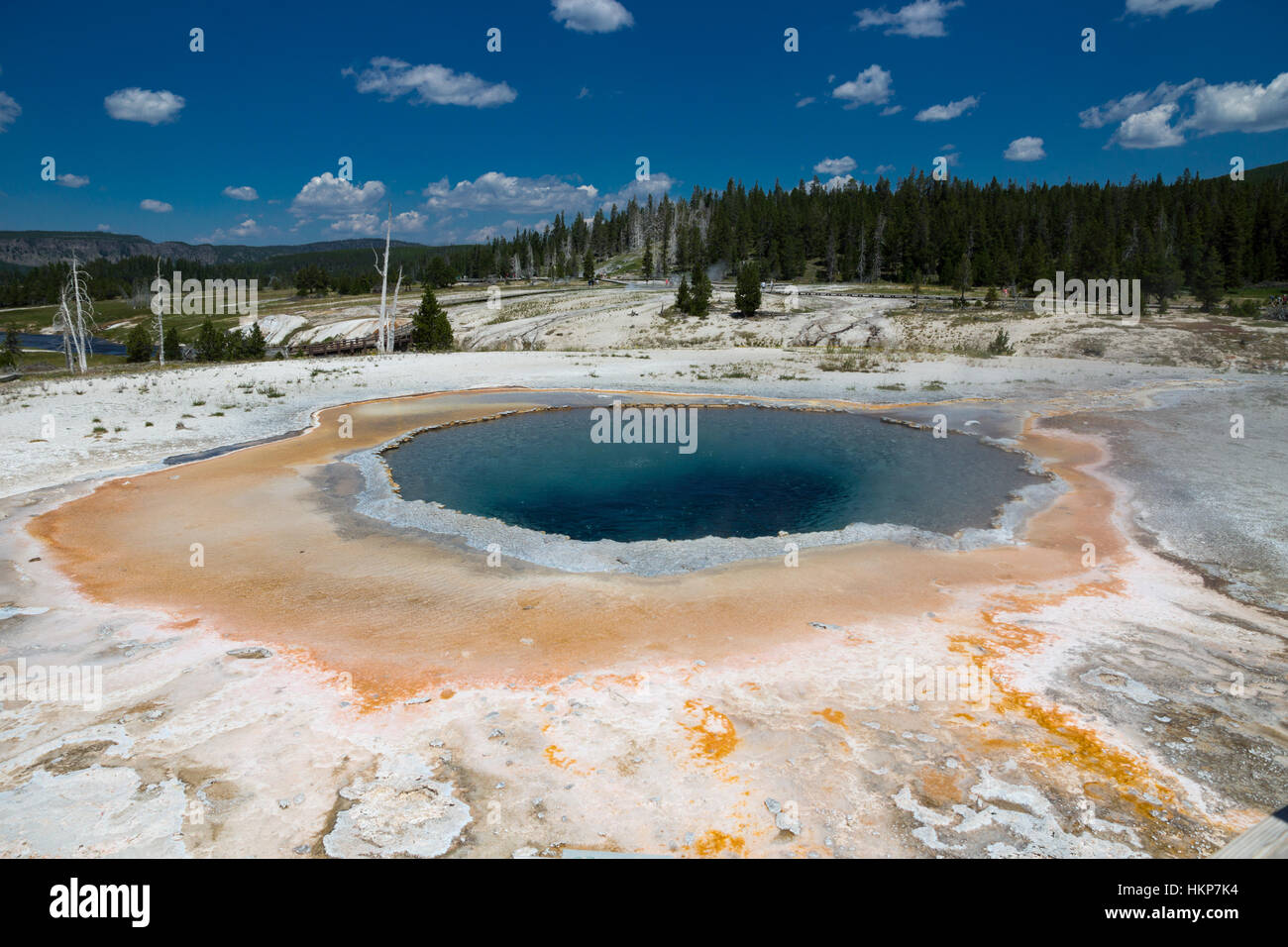 Upper Geyser Basin, Yellowstone National Park, Wyoming, USA - Stock Image