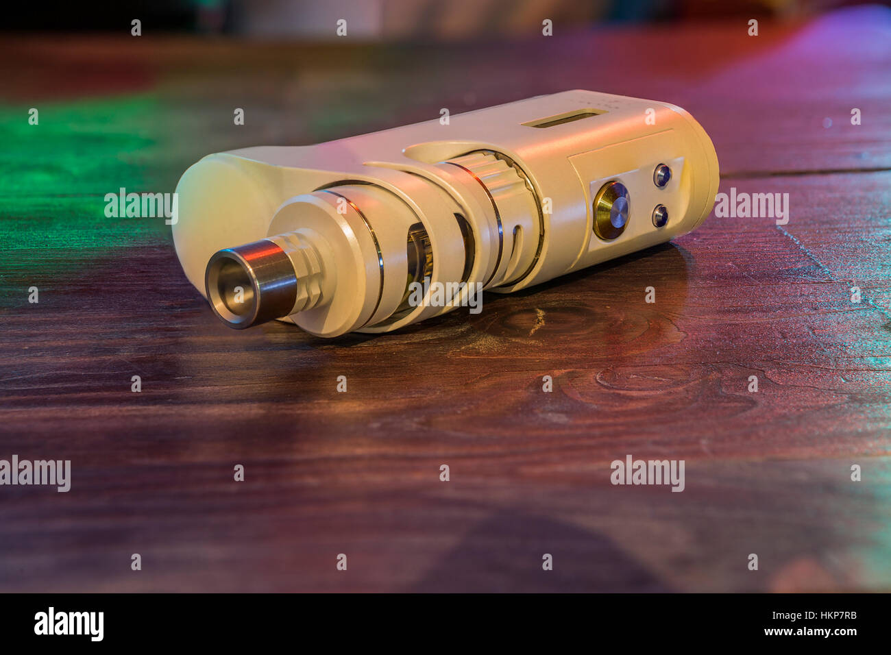 Electronic cigarette at the bar. Stock Photo