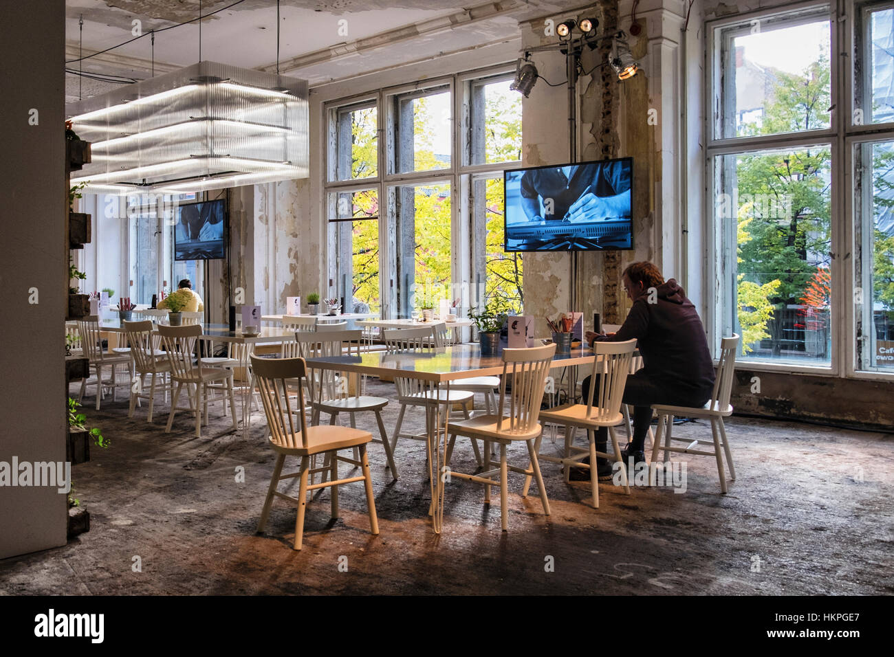 Berlin Mitte. Restaurant at C-HR Innovation and Creativity Festival in  historic Kaufhaus Jahndorf building - Stock Image