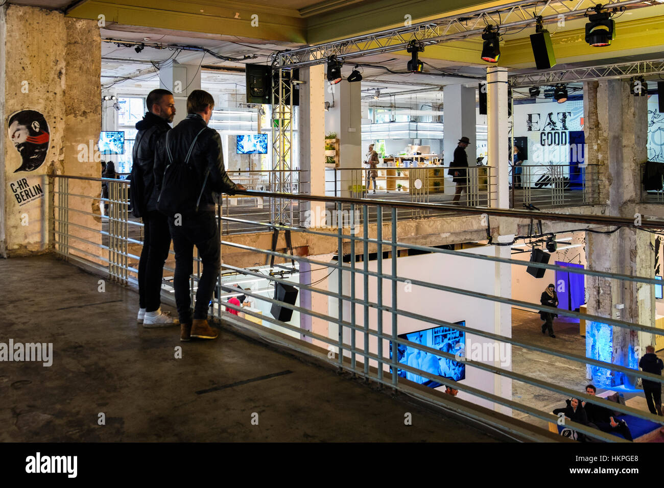 Berlin Mitte. C-HR Innovation and Creativity Festival in  historic Kaufhaus Jahndorf building - Stock Image