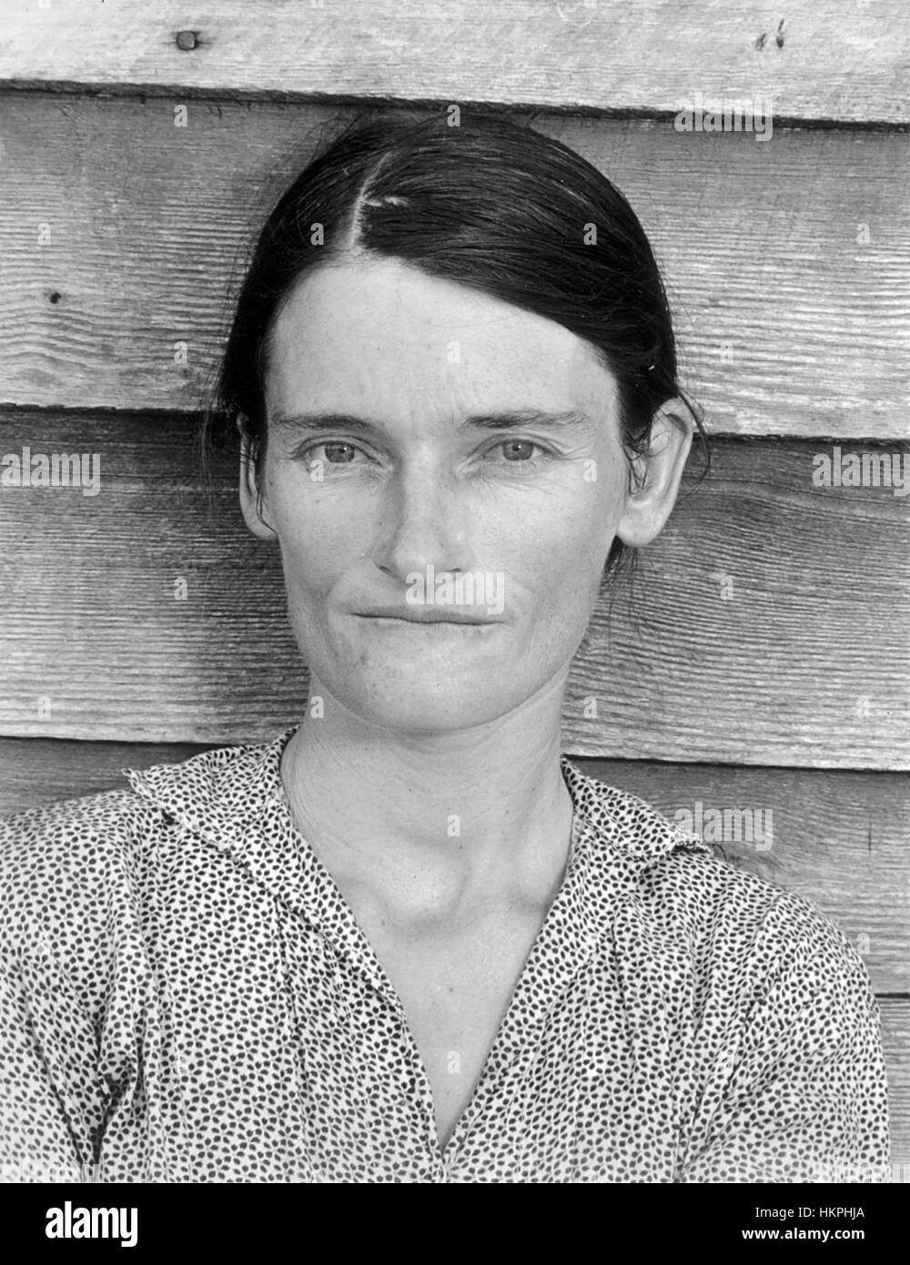 WALKER EVANS (1903-1975) American photographer whose work for the Farm Security Administration  included this portrait - Stock Image