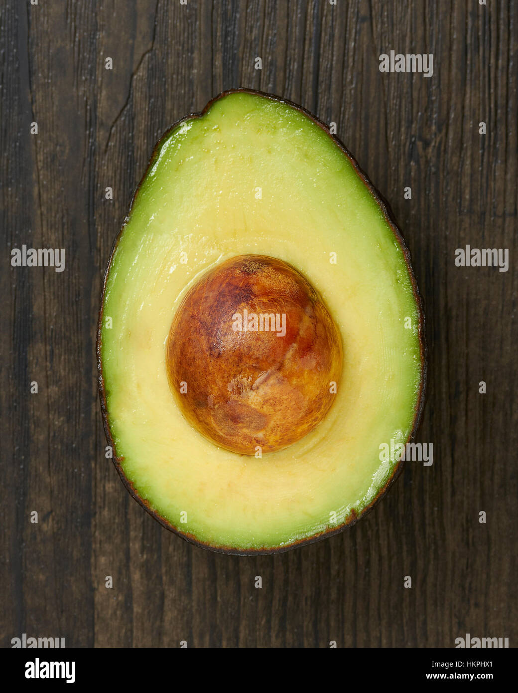 A Single Sliced Avocado Half - Stock Image