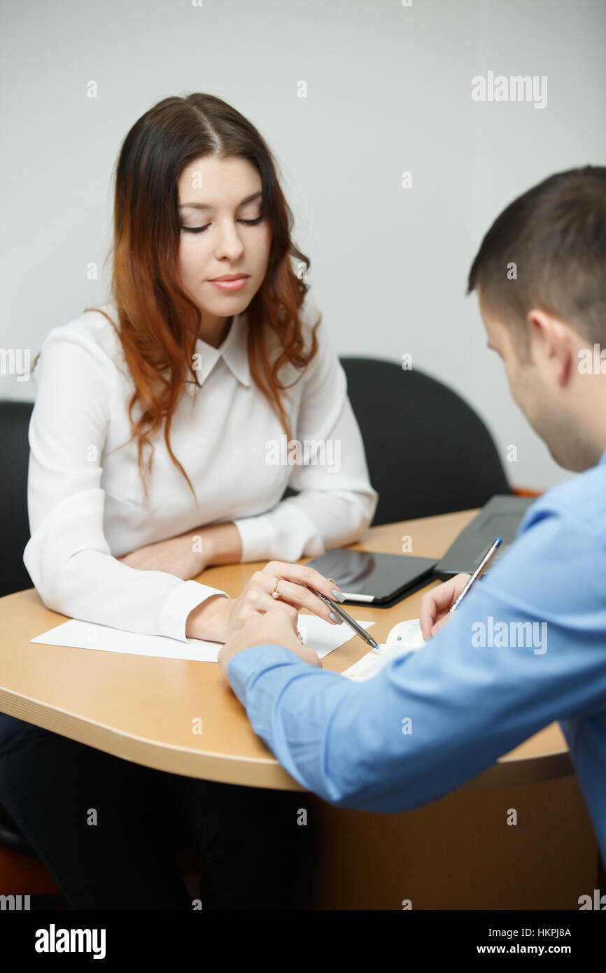 Picture of business humans working - Stock Image