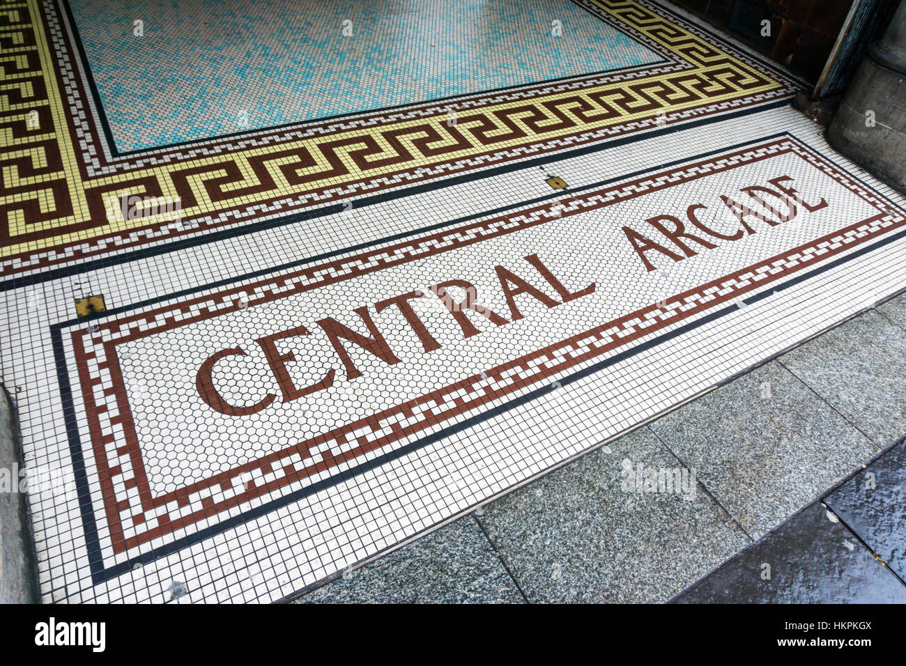 The entrance to Central Arcade, Newcastle. The arcade was built in 1906 & designed by the Newcastle firm of - Stock Image