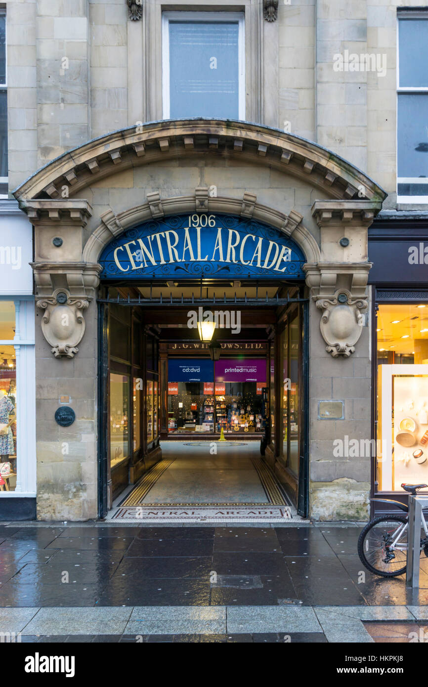 Central Arcade in Newcastle Upon Tyne. - Stock Image