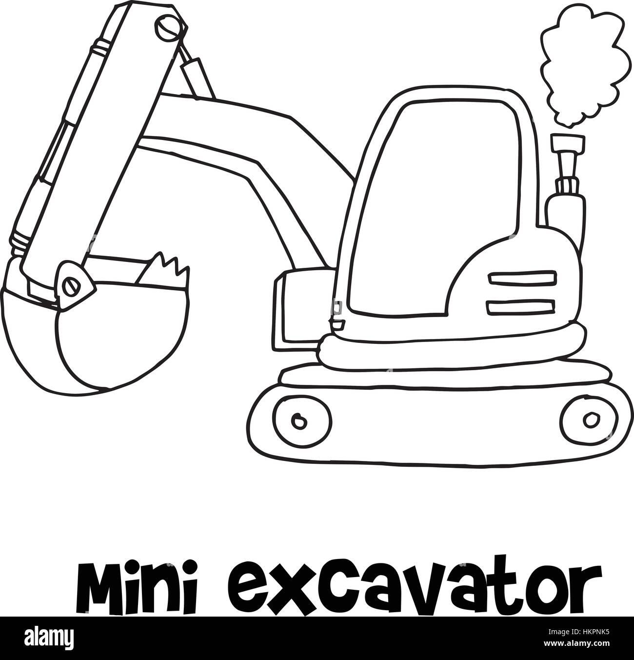 Excavator Black and White Stock Photos & Images - Alamy