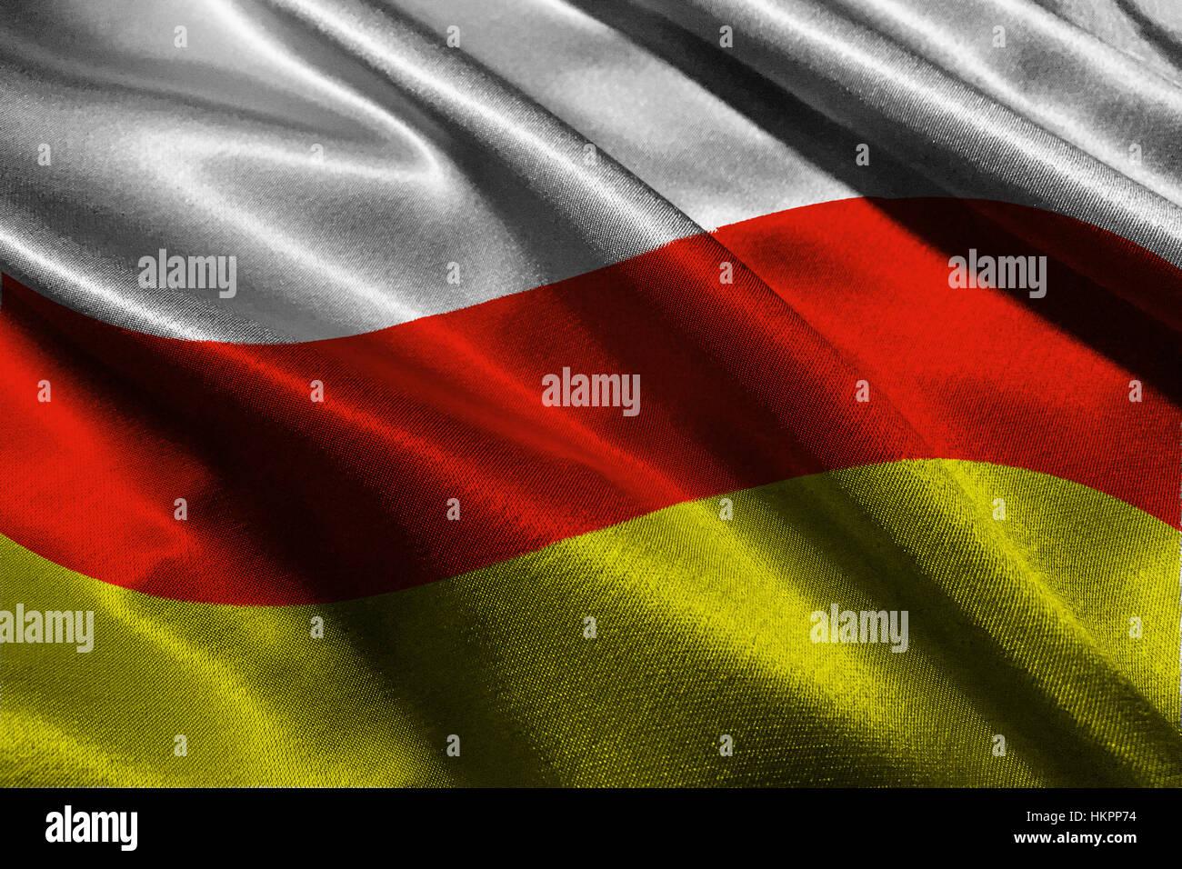 South ossetia flag 3D illustration symbol - Stock Image
