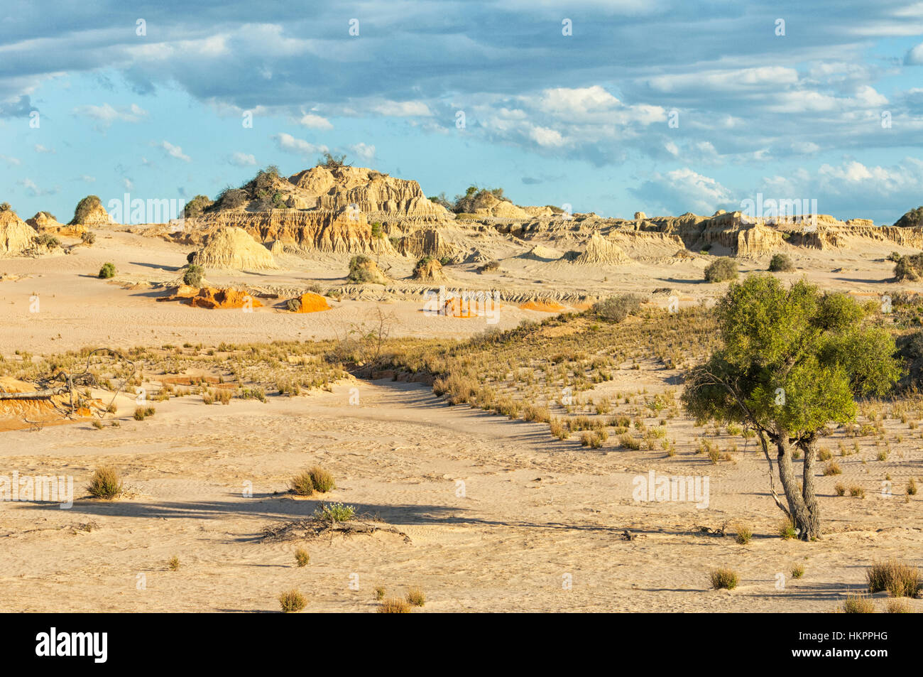 View of the Lunette, Mungo National Park, New South Wales, Australia - Stock Image