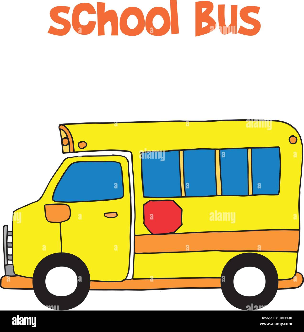 Bus School Cartoon Stock Photos Images Ppm Wiring Diagram For Vector Of Image