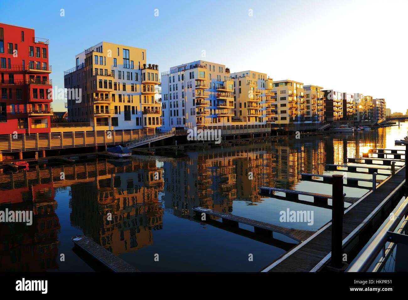 Frankfurt, Westhafen (Port West), Germany, March 2013 Stock Photo