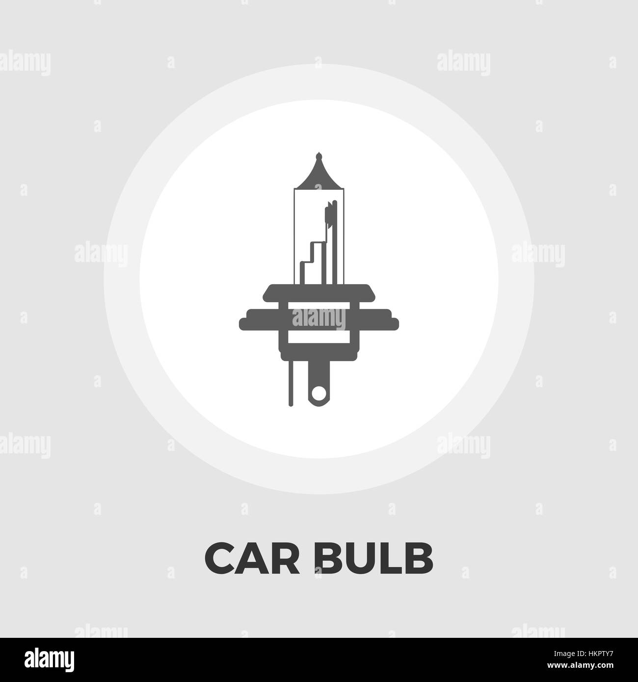 Xenon car lamp icon vector. Flat icon isolated on the white Stock ... for Car Lamp Vector  83fiz