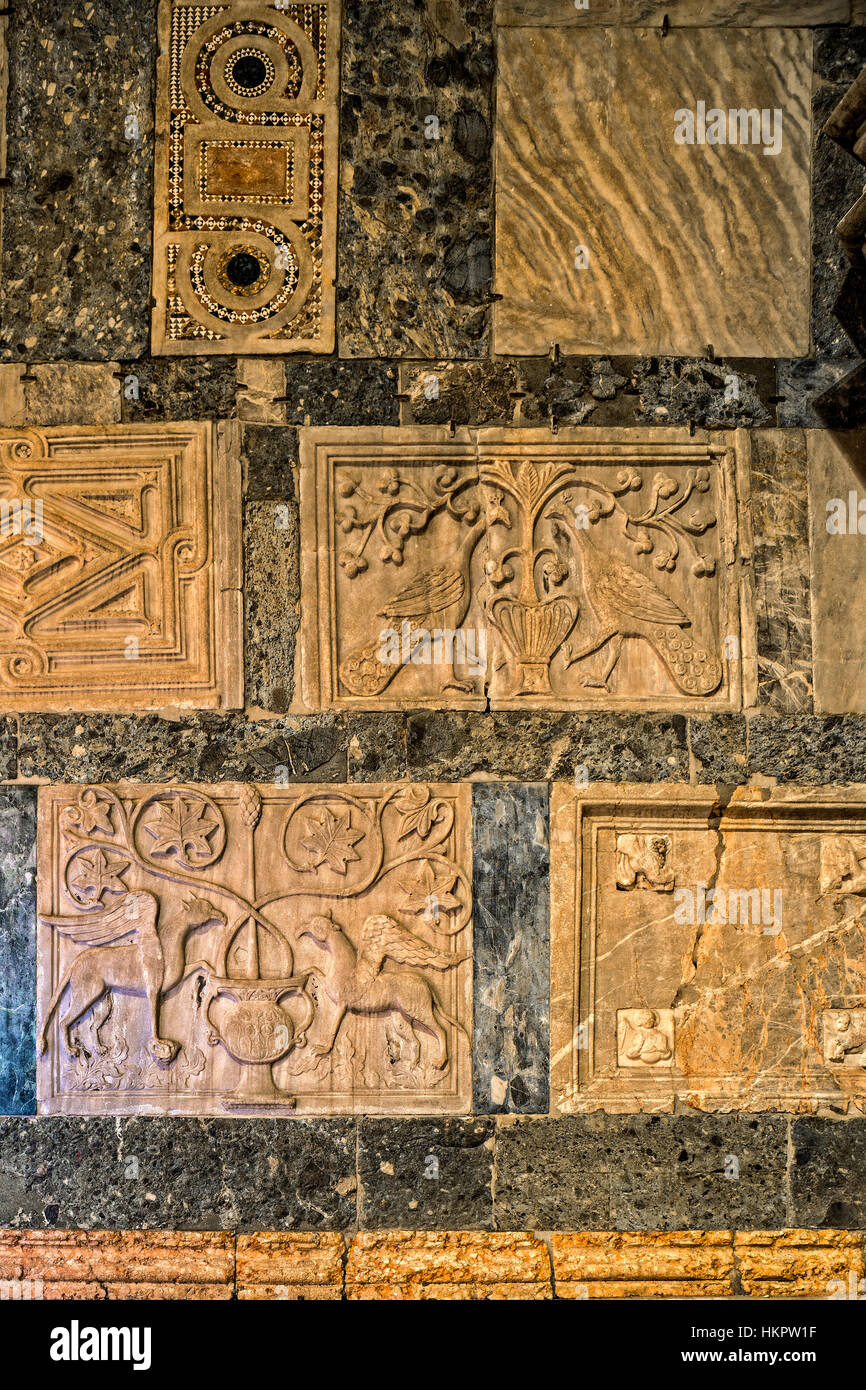 Italy Veneto Venice Piazzetta San Marco - reliefs on the side wall of St. Mark's church - Stock Image