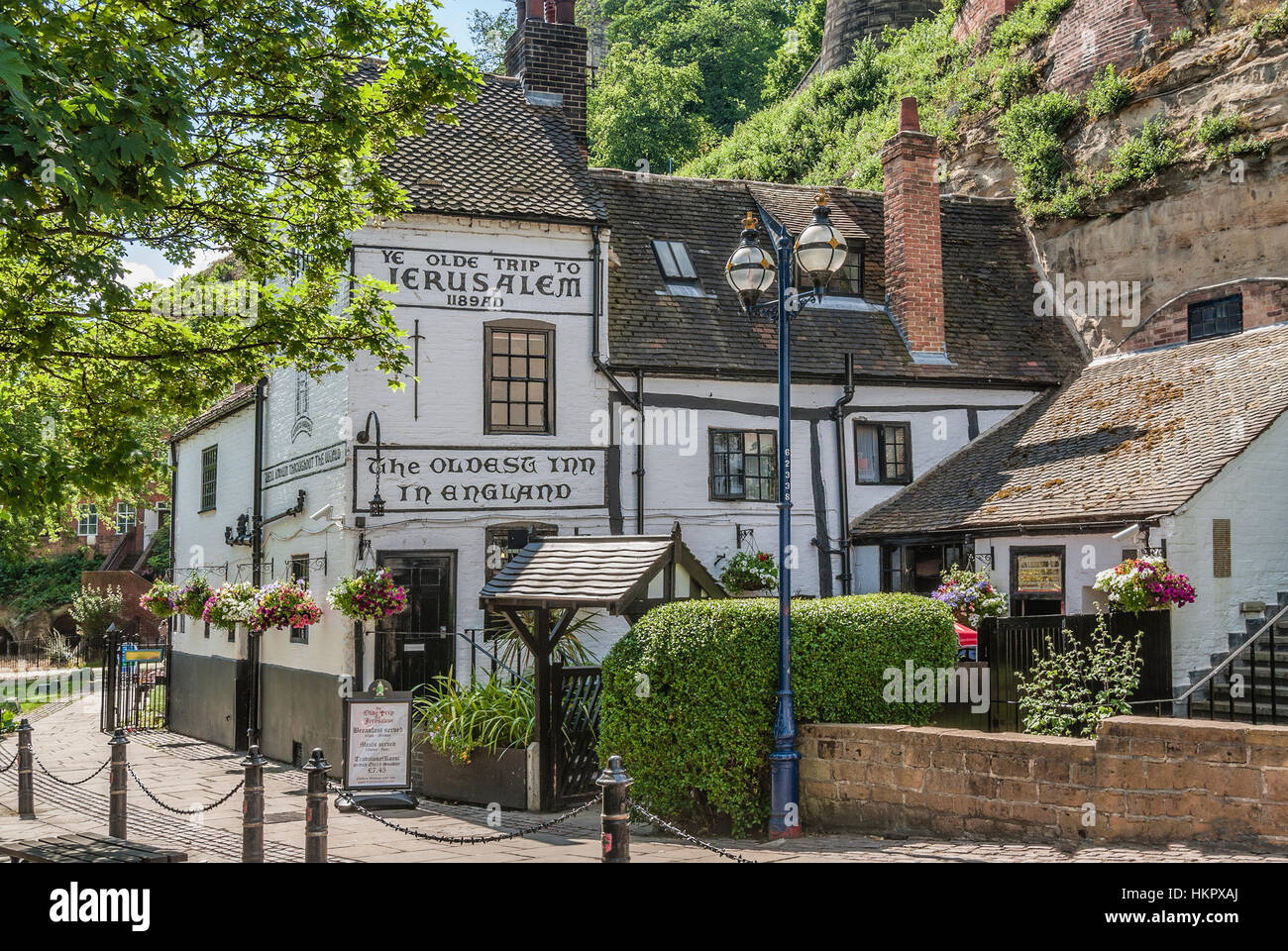 Ye Olde Trip To Jerusalem in Nottingham is one of the 20 public houses (including Ye Olde Salutation Inn and The - Stock Image