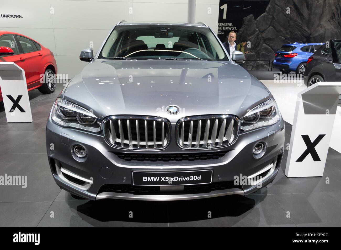 FRANKFURT, GERMANY - SEP 16, 2015: BMW X5 xDrive30d shown at the IAA 2015. - Stock Image