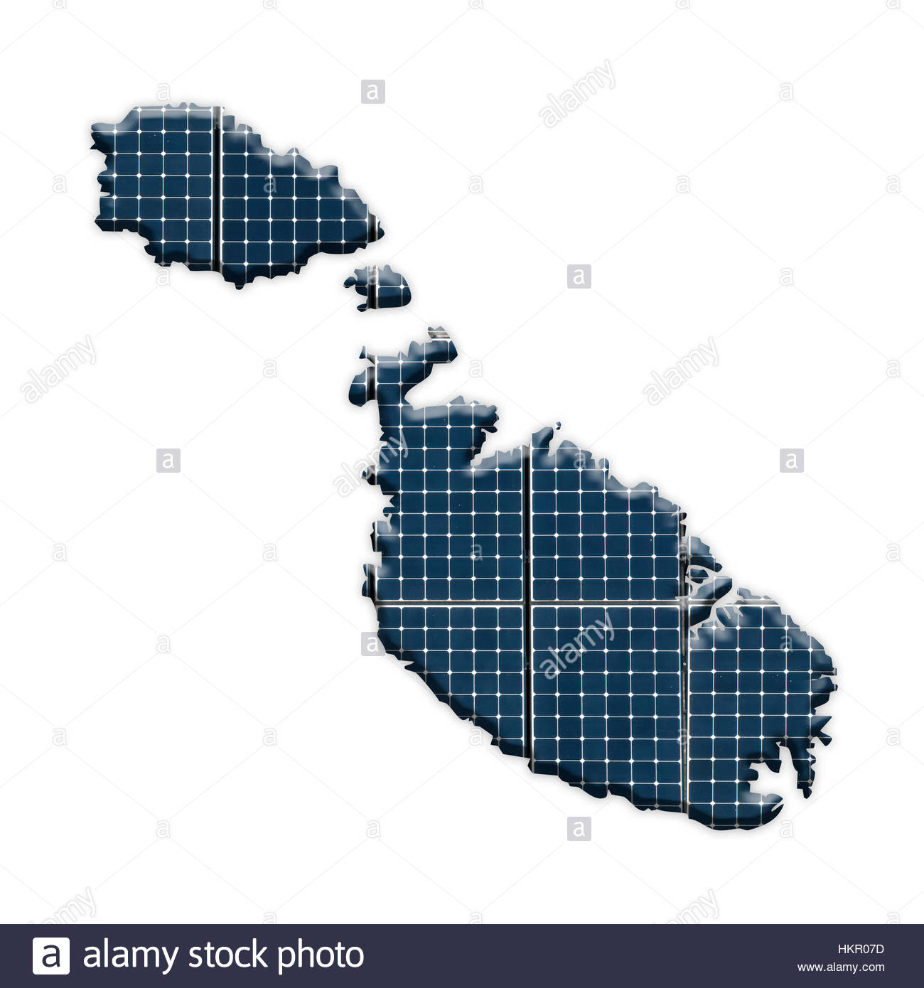 Solar Panels On Airfields Malta Map Stock Photos Malta Map