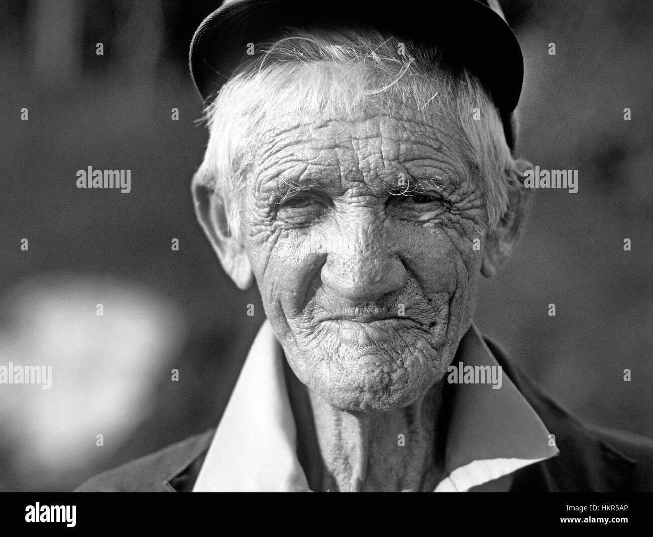 A farmer in the Blue Ridge Mountains near Asheville, North Carolina - Stock Image