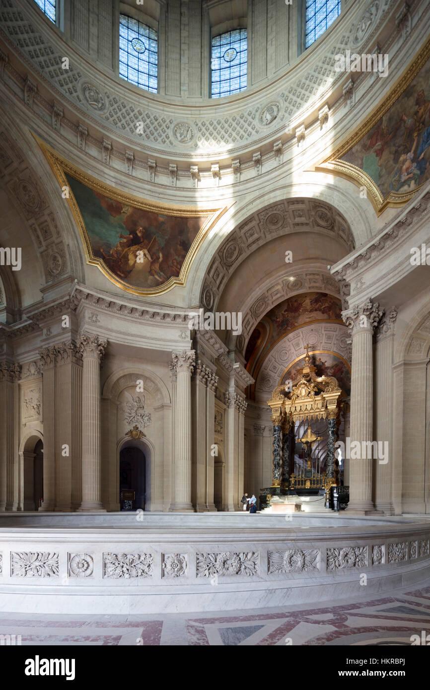 Dôme des Invalides (originally Chapelle royale), Paris, France - Stock Image